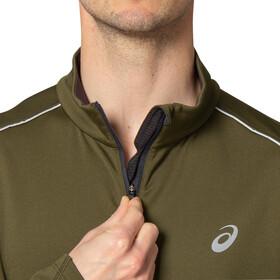 asics Lite-Show Winter LS 1/2 ZipTop Men smog green/graphite grey